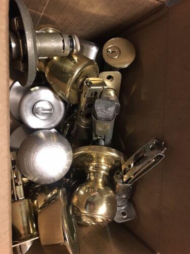 Lot Of Door Knobs, Brackets, Key Hole Covers And Door Keys - $8.00