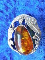Bella, Vecchio Spilla___argento 925_con Grande Amber__spilla,o.rimorchio -  - ebay.it