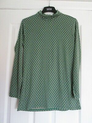 Orla Keily x Uniqlo Top Ladies Green Floral Print Heattech top, Size XL 40-41 in