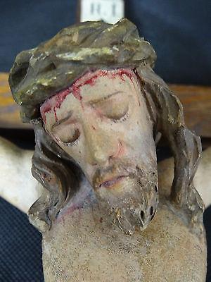 Kruzifix Oberammergau 19 Jhd. Original Fassung  / Jesus / Christus / Kreuz
