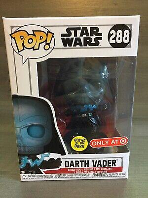 Funko Pop Darth Vader Target Exclusive Glow in Dark #288 Star Wars *NIB*