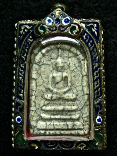 thai buddha phra somdej case silver LP ton wat rakang Temple old buddha