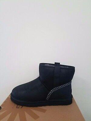 Ugg Australia Men`s Classic Mini Stich  boots Size 10 New  NIB