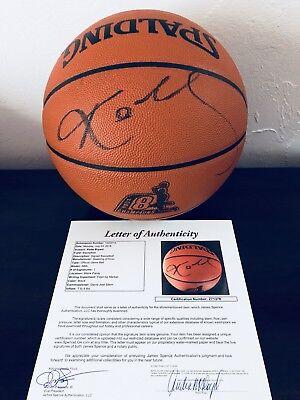 b1ec2aacca4 KOBE BRYANT Signed Basketball Lakers 2000 NBA CHAMPS KOBE 8 LOGO JSA COA  RARE !!