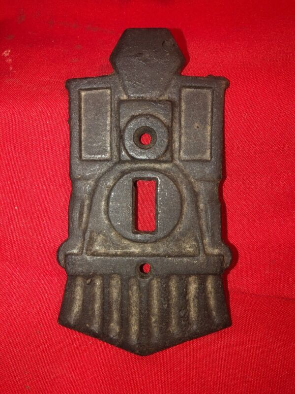 "Train Engine Cast Iron Light Switch Cover ""The Old Switcher Switchplate"""