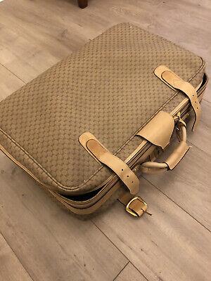 Authentic Vintage GUCCI GG Monogram Luggage / Suitcase Bag