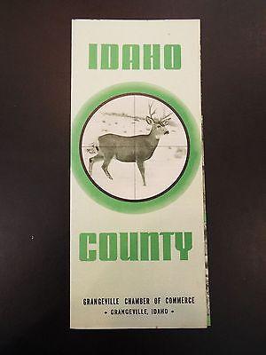 Idaho County, Grangeville, Idaho Vintage Tourist Brochure