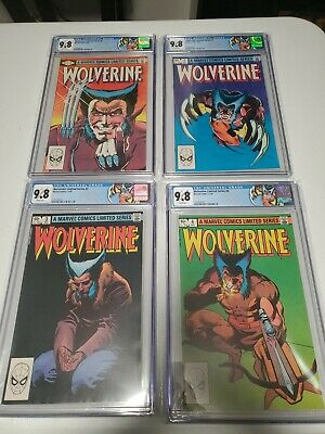 Wolverine Limited Series #1-4 CGC ALL 9.8 WHITE PAGES Custom Label No Reserve