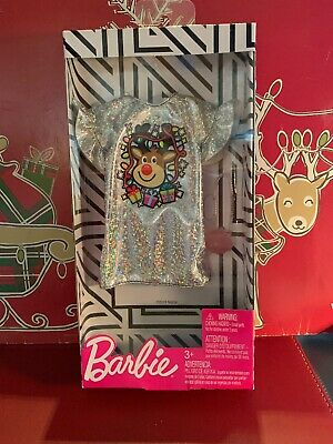 2019 Barbie Doll Christmas Holiday Outfit Sparkly Rudolf Dress with Purse!](Rudolf Outfit)