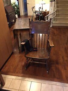 Antique furniture .