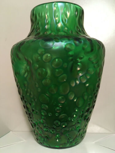 antique Art Nouveau Loetz Creta (green) Diaspora vase