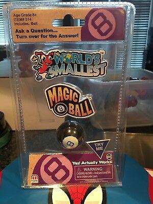 World's Smallest Magic 8 Ball Working Mini New in Package - Mini Magic 8 Ball