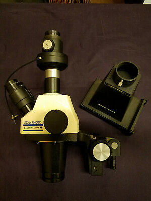 Used Bausch And Lomb Stereozoom Model Sz - 6 Photo Dissecting Microscope System