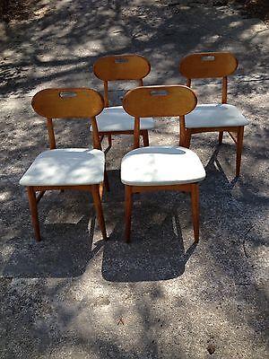 Set Of 4 Buck Style Teak Dining Chairs Danish Modern Mid Century