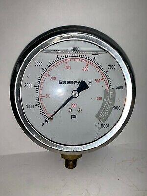 Enerpac Liquid Gauge Gp10s 0- 10000 Psi 3-12 Glass 14 Npt Port