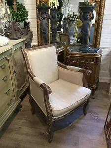 French Hamptons Provincial Style Armchair Accent Chair Richmond Hawkesbury Area Preview