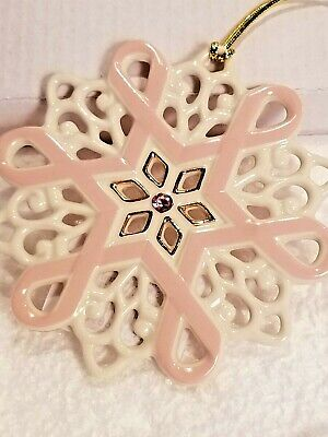 Lenox Gift of Knowledge Breast Cancer Awareness Snowflake Ornament -
