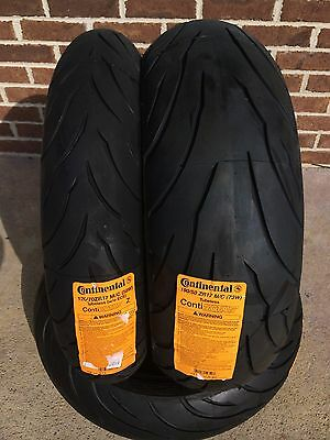 CONTINENTAL CONTI MOTION TIRE SET 120/70-17 190/50-17 PAIR 120/70zr17 190/50zr17