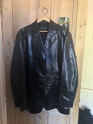 Iceberg Pelle Leather Suit Jacket Blazer Mens