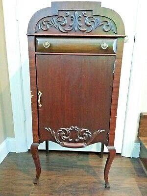 Antique Round Top Larkin Company Sheet Music Record Album Storage Cabinet