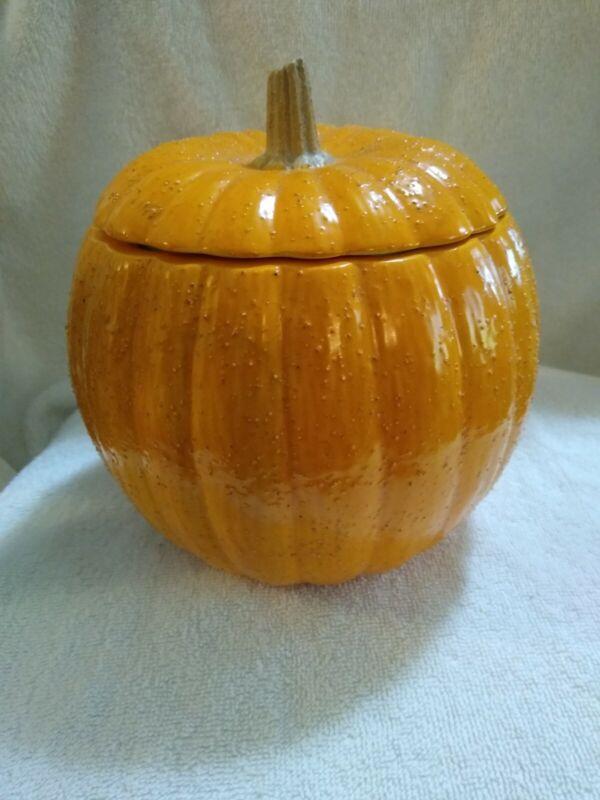 Ceramic Pumpkin Cookie / Candy Jar
