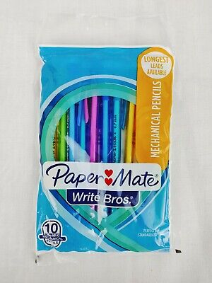 Paper Mate Mechanical Pencils Write Bros Pack Of 10 Hb 2 0.7mm