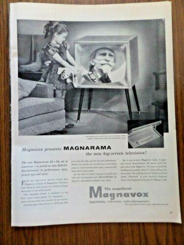 1955 Magnavox TV Television Ad   Presents Magnarama The New Big Screen TV