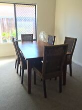 7 piece dining suite - solid wood and cane Rockingham Rockingham Area Preview