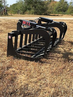 Mtl Attachment Hd 78 Skid Steer Root Grapple Twin Cylinder-bobcat-universal Fit