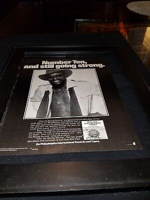 Billy Paul Only The Strong Survive Rare Original Promo Poster Ad Framed!