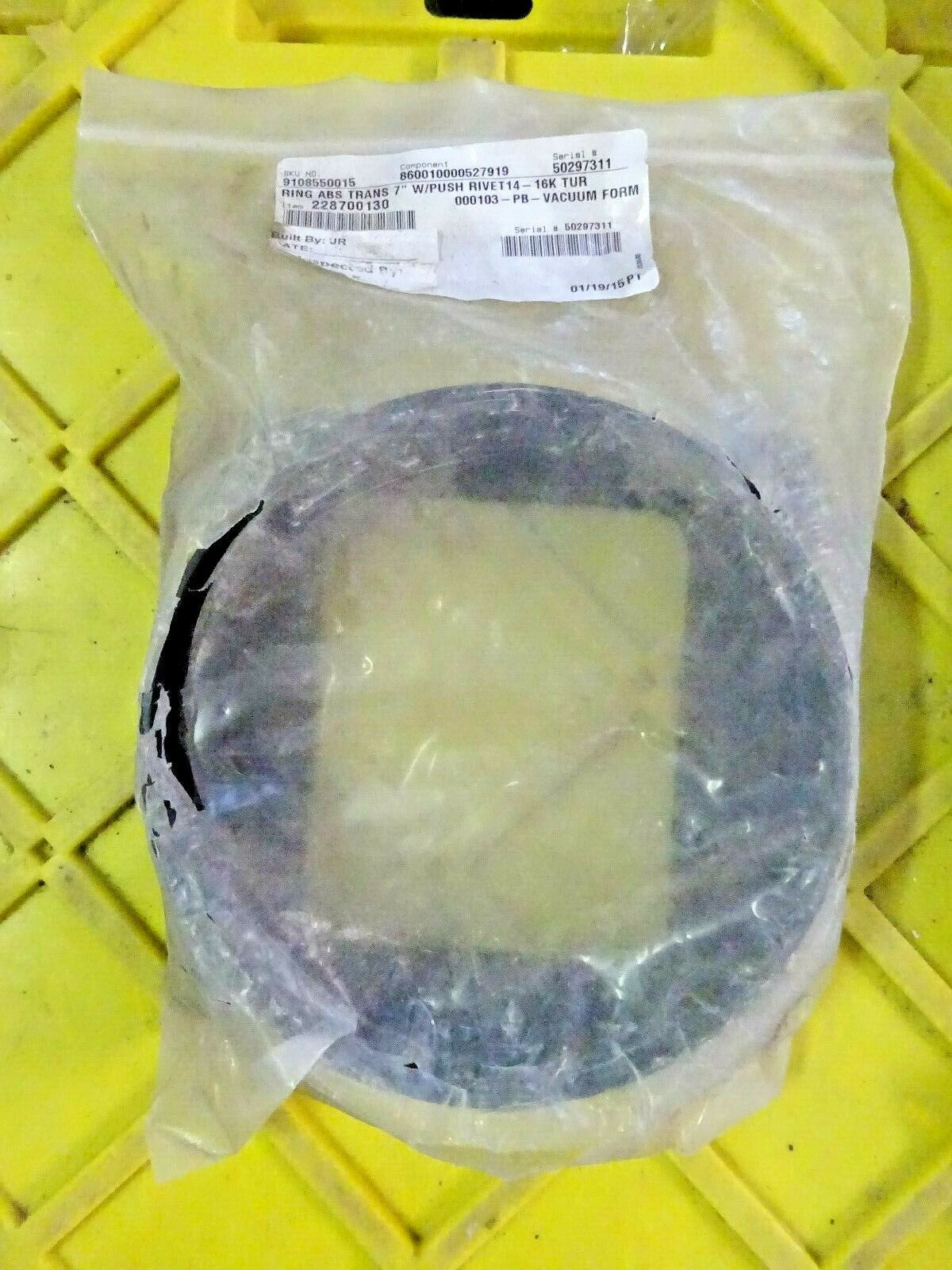 "DOMETIC 228700130 AC DUCT TRANSITION RING 7"" NEW IN BG 9108550015 OLD INV"