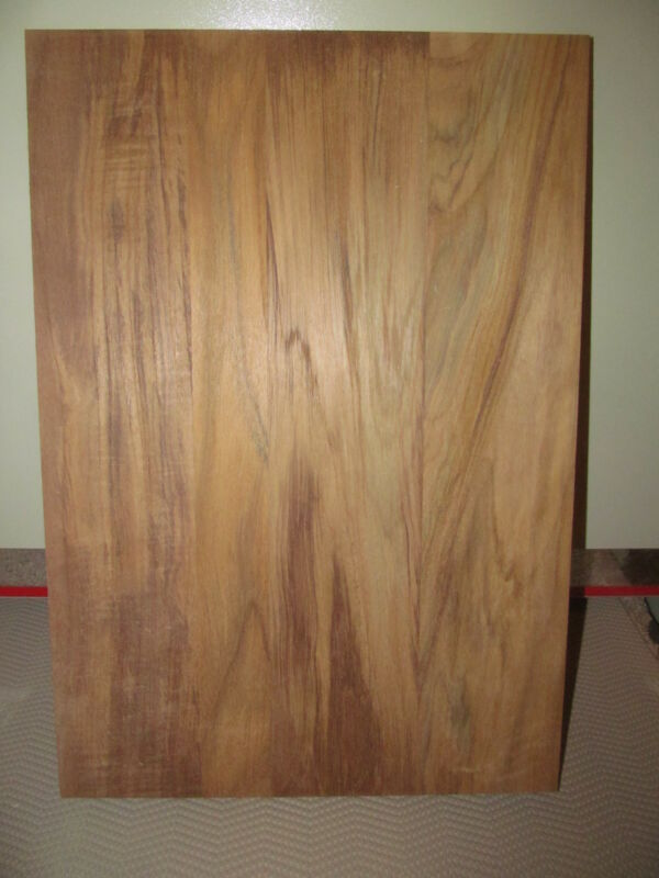 BEAUTIFUL WIDE SANDED KILN DRIED TEAK PANELS WOOD LUMBER 24 X 14 X 3/4""