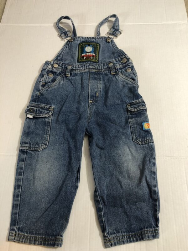 THOMAS THE TANK ENGINE Overalls Size 3T TRAIN Conductor Denim VINTAGE Jean