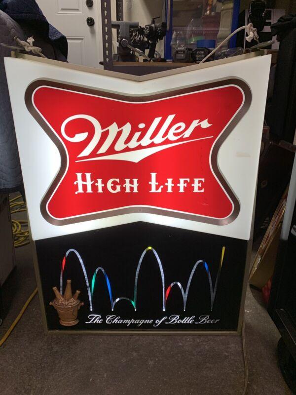 LARGE  Miller High Life Champagne of Bottle Beer Lighted Motion Sign - WORKS!!
