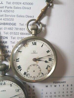 Vintage / Antique Stainless Steel OMEGA Pocket Watch