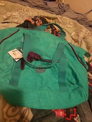 Kipling Art M Tote 438 Cool Turquoise CZ New