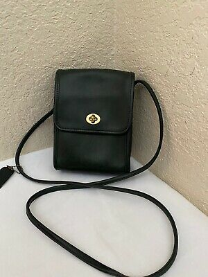 Coach Green Leather Messenger Crossbody Scooter Shoulder Handbag 9893