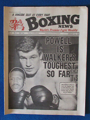 Boxing News Magazine   22 1 65    Billy Walker Cover