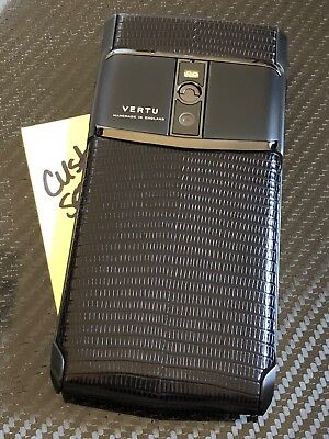 "Maker NEW Genuine Vertu Signature Touch 5.2"" Pure Jet Lizard Extremely RARE"