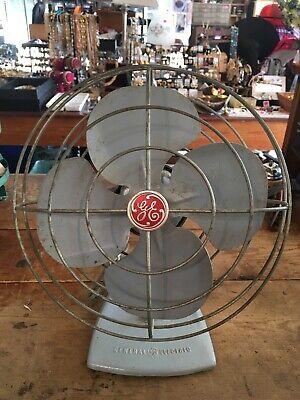 "ANTIQUE VINTAGE G.E. FAN General Electric GE old fan original Works! 11"" Dia #15"