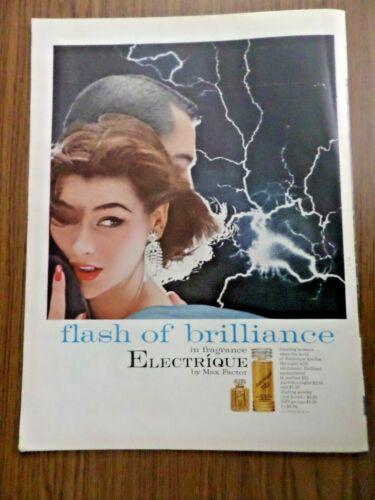 1955 Max Factor Electrique Fragrance Ad Flash of Brilliance