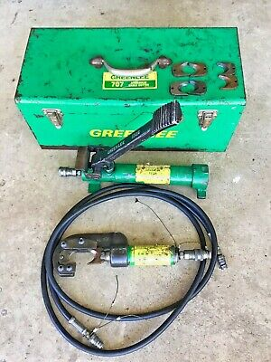 Greenlee 707 Hydraulic Cable Cutter With 1725 Foot Pump