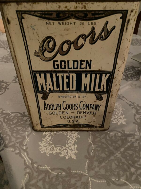 COOR'S brewery Malted Milk- Made During Prohibition -1920's