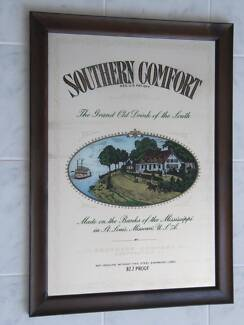 SOUTHERN COMFORT GRAND OLD DRINK OF THE SOUTH MIRROR SIGN