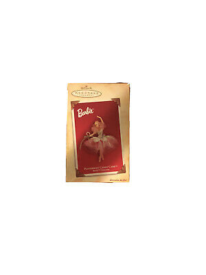 "NIB- 2004 Barbie Hallmark Keepsake Ornament- ""Peppermint Candy Cane"""