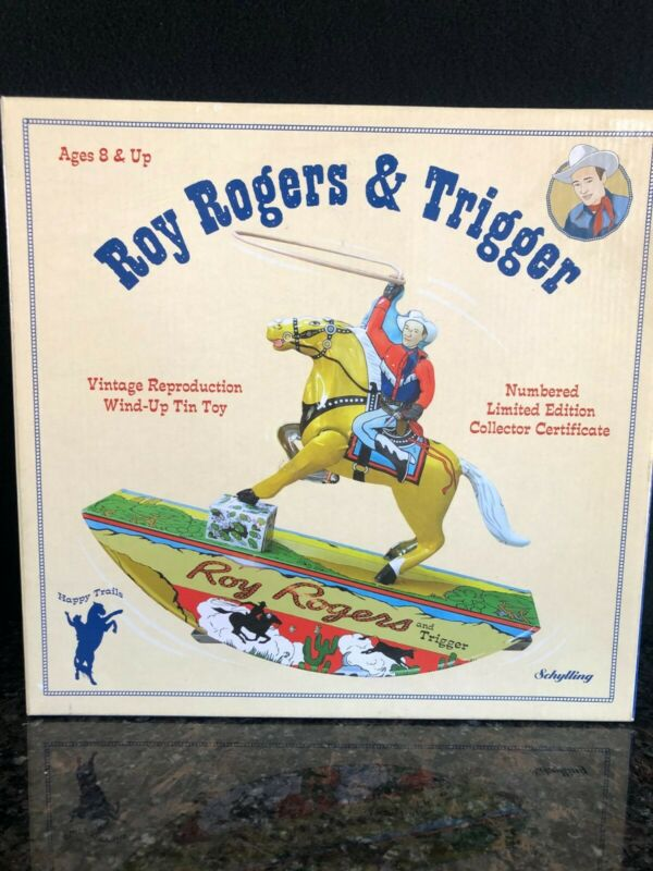 Roy Rogers And Trigger Vintage Reproduction Wind Up Toy Great Condition!!!
