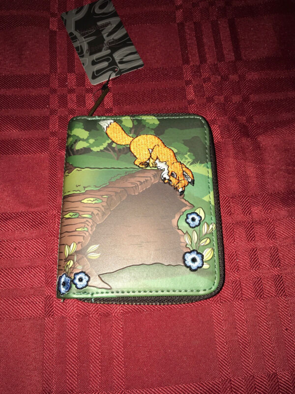 LOUNGEFLY Disney The Fox And The Hound Wallet NEW