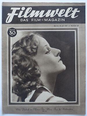 * Filmwelt * Heft Nr. 29 / 19.7.1931, Film-News der Weimarer Republik, Original!