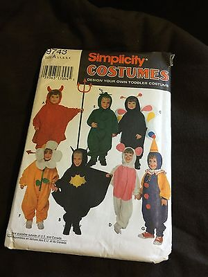 DESIGN YOUR OWN TODDLER COSTUME - SIMPLICITY Pattern #9743- Sz Toddler 1/2 - 4  - Design Your Costume