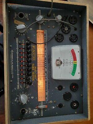 Vintage Paco Model T-60 Tube Tester - Precision Apparatus C0.